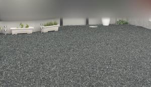 (置いただけ)リアル人工芝を砂利の上のそのまま敷いてみました。施工前画像