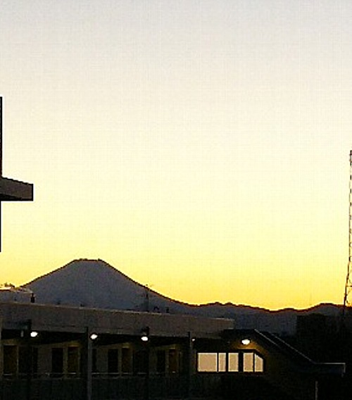 富士夕景1月11日