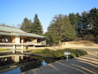 遊心亭前の池180113