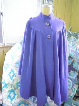 フラノ紫マント180115