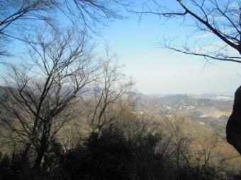 見城山から採石場方面180210