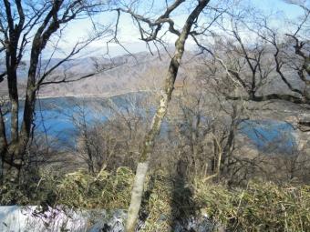 下山途中本栖湖180218