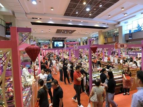 シンガポール春節お菓子売り場
