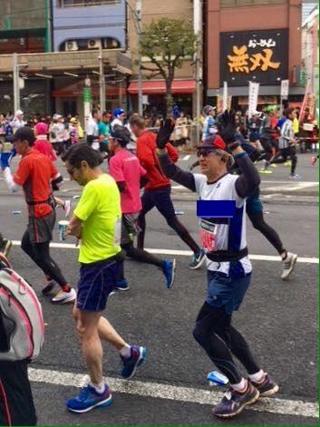 東京マラソンレース中修正