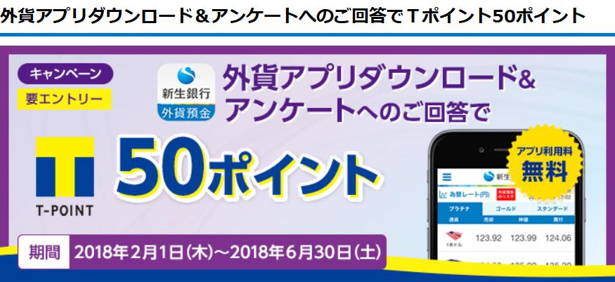 Screenshot-2018-2-22 外貨アプリダウンロード&アンケートへのご回答でTポイント50ポイント 新生銀行