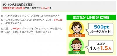 i2iポイント紹介キャンペーン LINE