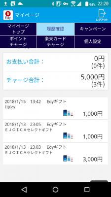 Edy履歴