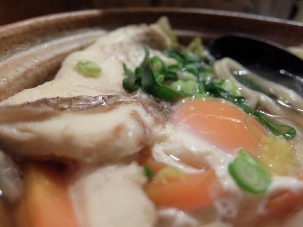 鯛鍋焼きうどん