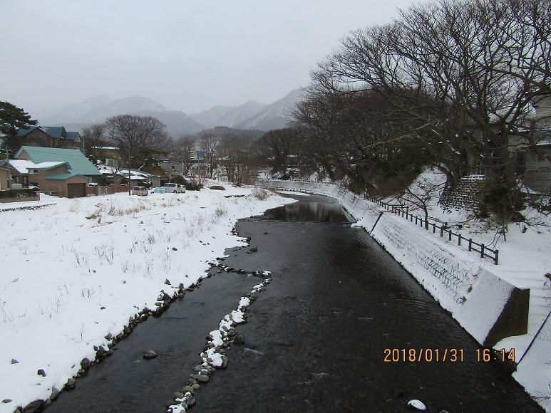 真瀬川の冬