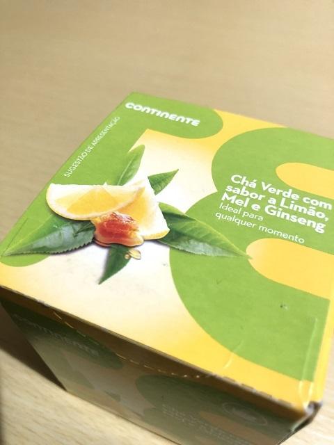 CONTINENTE Chá Verde Limão, Mel e Ginseng