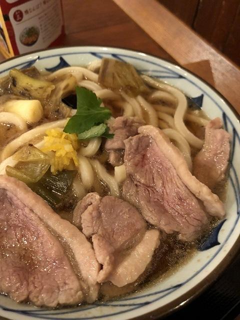 讃岐釜揚げうどん 丸亀製麺 酒田店 鴨ねぎうどん(大)