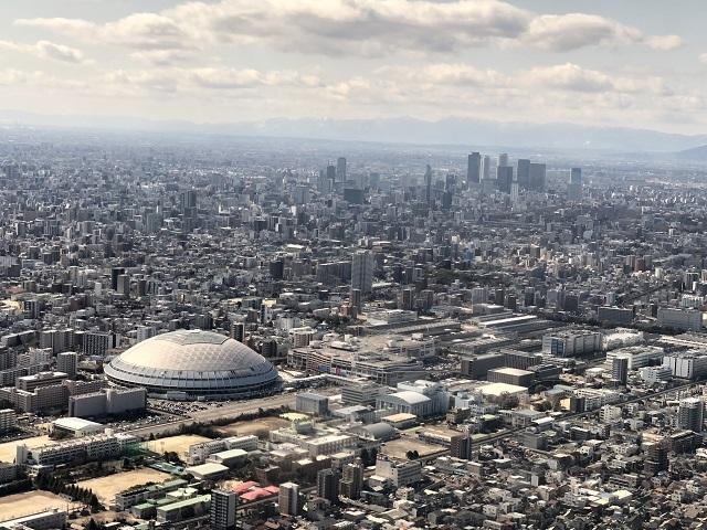 名古屋ドームと名古屋駅