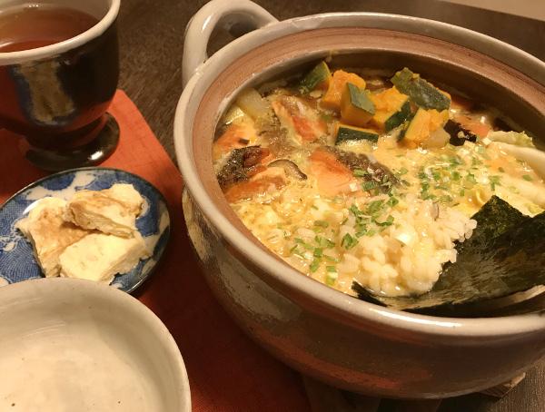 Dec26_鮭と野菜のお雑炊