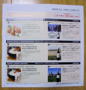 ベルーナ優待カタログ