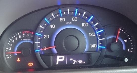 今回の燃費は13