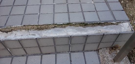階段タイルの補修