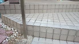 階段タイルの補修36