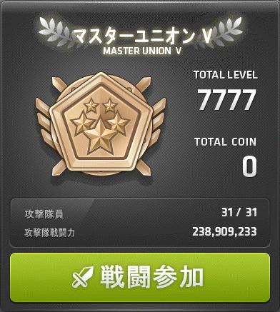 ユニオン 7777Lv 1