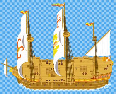 ガレオン船の外観