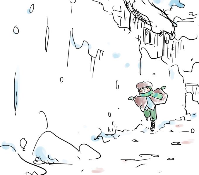 雪中ろくちゃん