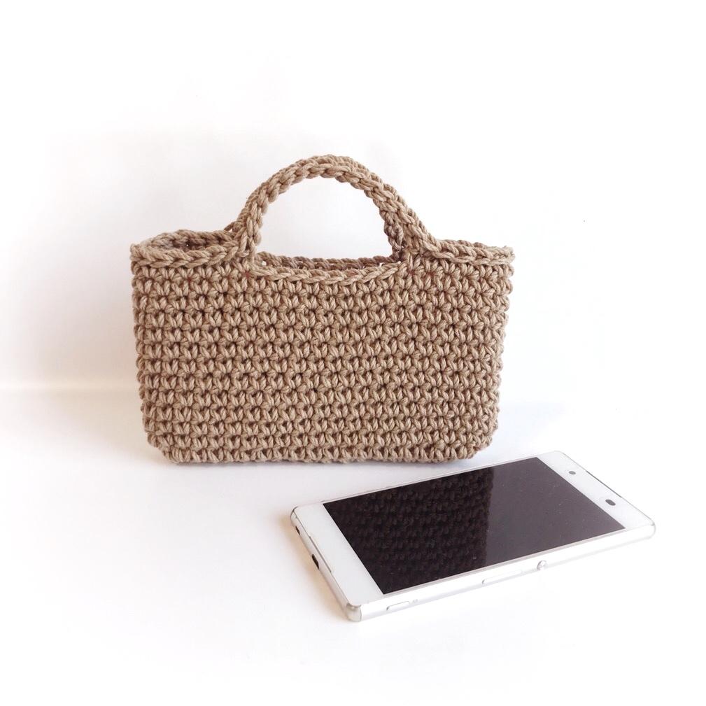 手編み雑貨 HanahanD スマホバッグ スマホケース iPhone