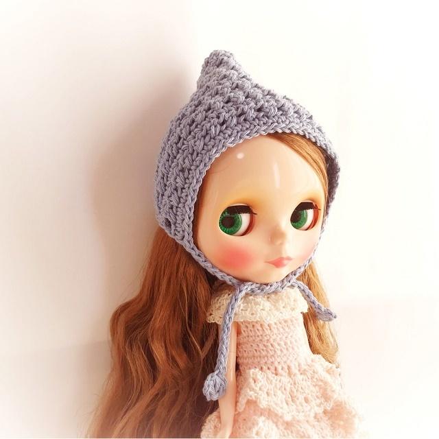 手編み雑貨 hanahand ネオブライス ドール 頭巾 帽子