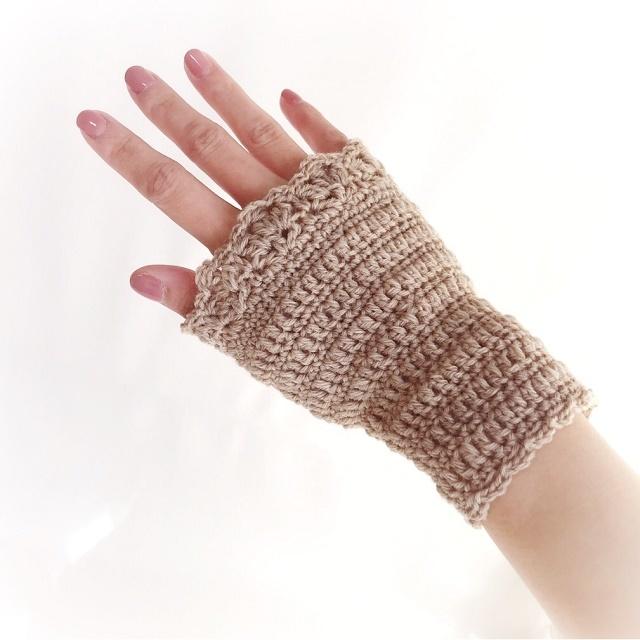 手編み雑貨 HanahanD リストウォーマー、手首ウォーマー、ハンドウォーマー、お家小物