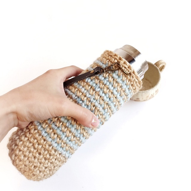 手編み雑貨 HanahanD ボトルケース、水筒カバー、マグボトル