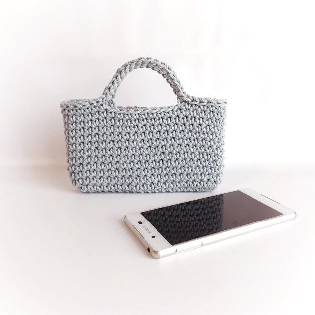 手編み雑貨 HanahanD スマホバッグ アイフォンバッグ スマホケース