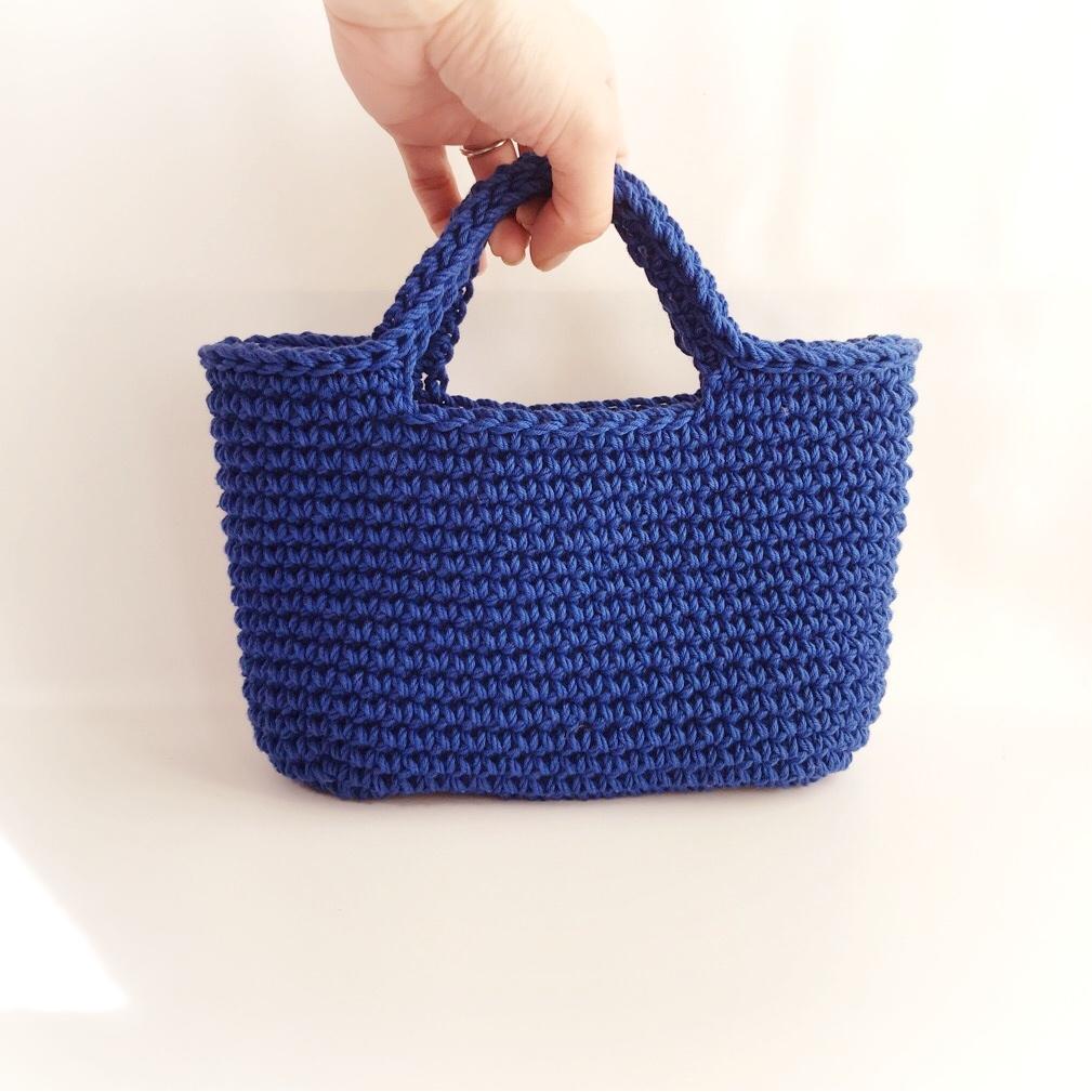 手編み雑貨 はなはんど コットン ハンドバッグ