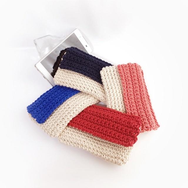 手編み雑貨 HanahanD スマホケース、iPhoneケース、スマホ収納