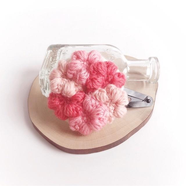 手編み雑貨 HanahanD スリーピン、パッチンどめ、ヘアピン