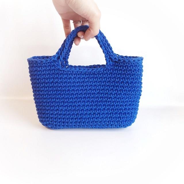 手編み雑貨 HanahanD コットンバッグ 手編みハンドバッグ