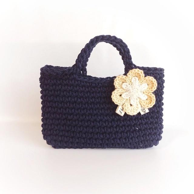 手編み雑貨 HanahanD 花ブローチ、入園、卒園