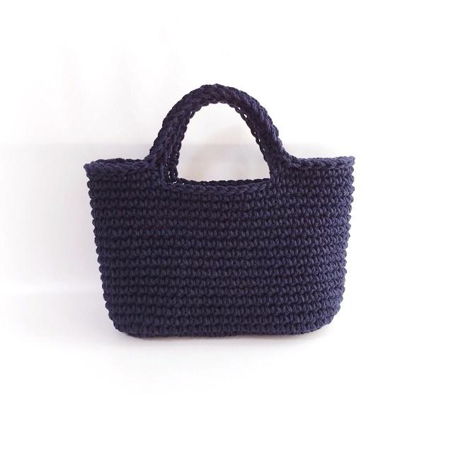 手編み雑貨 HanahanD ハンドバッグ 手編みバッグ お散歩バッグ