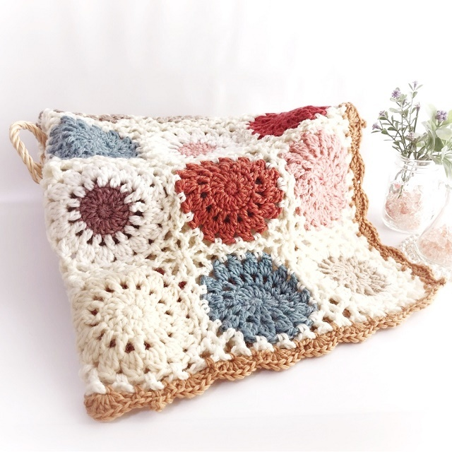 手編み雑貨 HanahanD カバー、マット、ひざかけ、ラグ