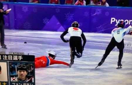 平昌五輪男子ショートトラック 北朝鮮の選手が転倒した際に渡邊啓太のブレードを掴む妨害行為 非難の声 まとめまとめ