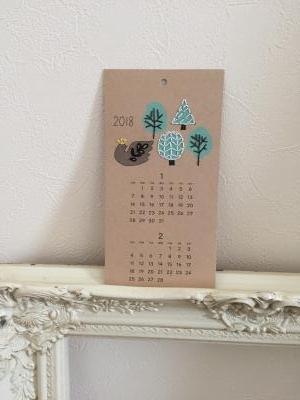 2018年 紙刺繍カレンダー1月2月分と、リビングをちょこっと模様替え