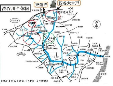 渋谷川全体図by『あるく渋谷川入門』