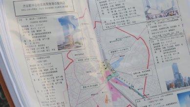 渋谷駅中心地区再開発動向図