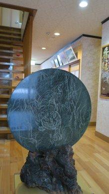 玄関の石の置物
