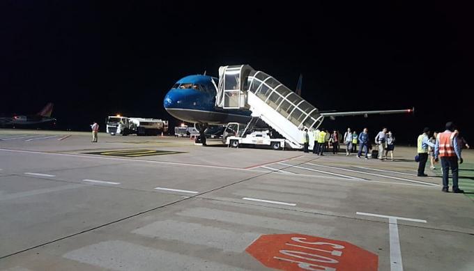 シェムリアップ空港に到着