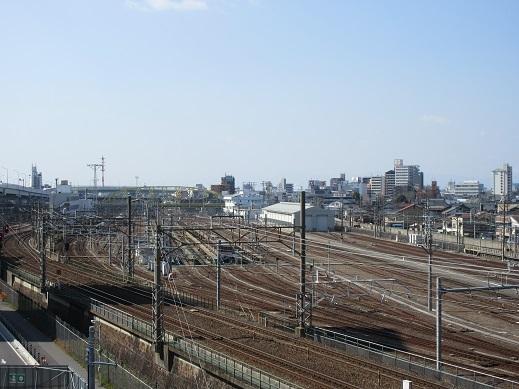 Gゲート側から線路