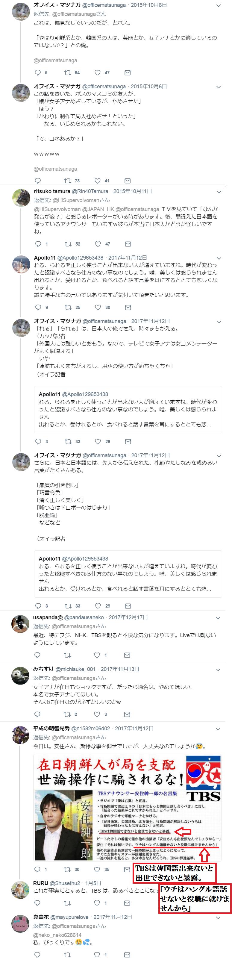 TBSやNHK(も?)では朝鮮語出来ないと出世できない