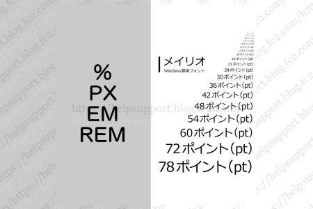 WEB サイト作成用フォントサイズ表 px・%・em (rem)