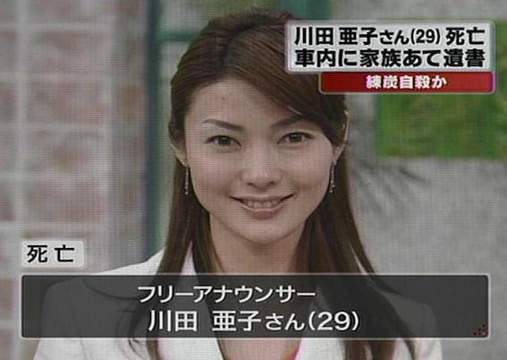 川田亜子自殺報道