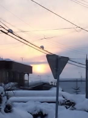 1月の朝日