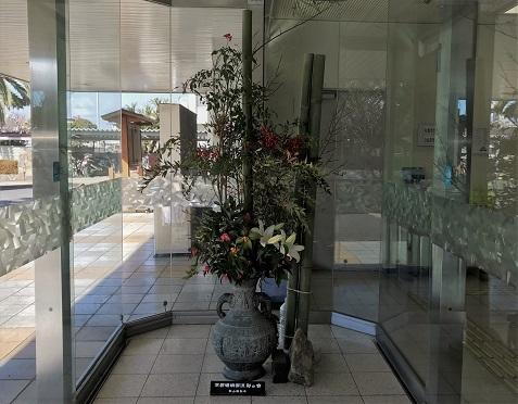 20180108学習センター入口の花