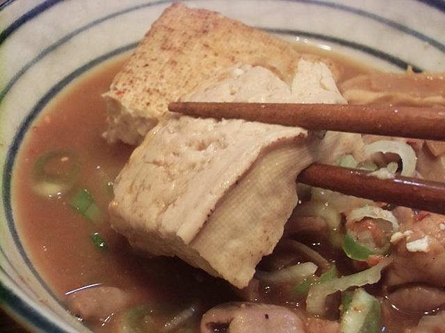 茶色く染まった豆腐