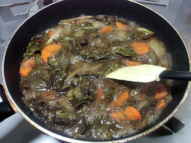 野菜はソースにします